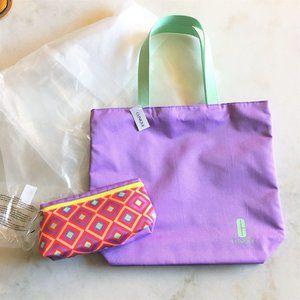 New! Clinique tote bag & cosmetic makeup bag set